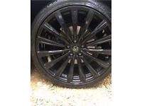 "22"" 5x120 Range Rover/X5/X6/VW Hawke Alloys in black"