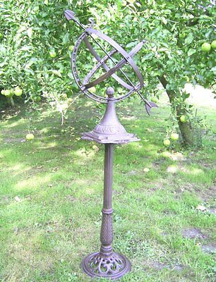 Large English Sundial 1,20m(H) . Cast Iron Antique Nostalgia Style Garden NEW