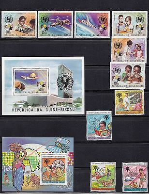 1979 Guinea-Bissau  IYC MI 140A, MI 147A, MI522-572, MI 529-532 MNH~