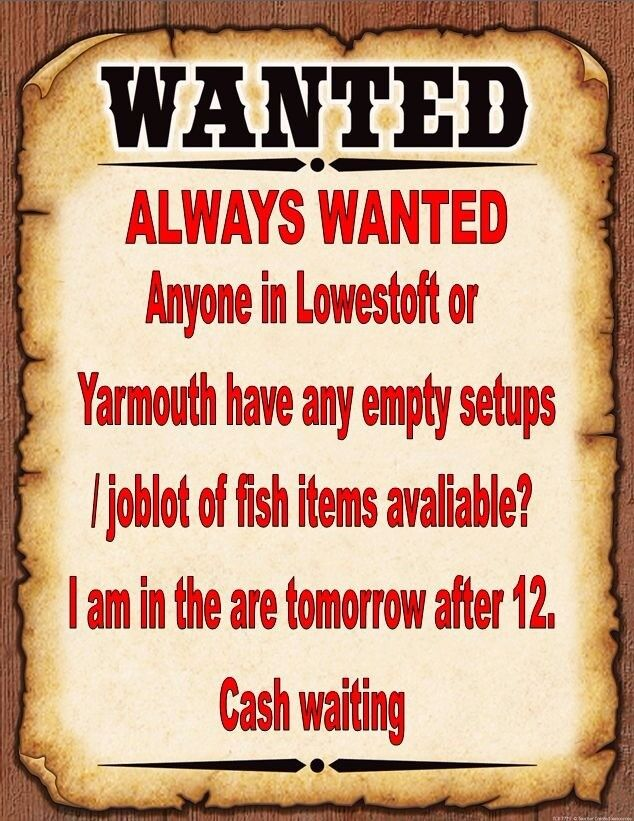 ALWAYS WANTED FISH AQUATIC ITEMS TANKS / JOBLOTS- COLLECTING FROM LOWESTOFT / YARMOUTH