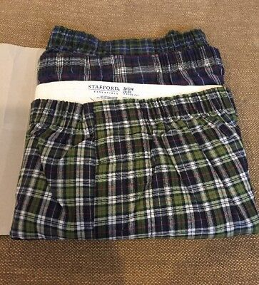 3 Pack Stafford Mens Size Small 28-30 Cotton  Blend Woven Boxers Underware T