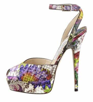 Jimmy Choo Lola Printed Python Skin Shoes Size 6