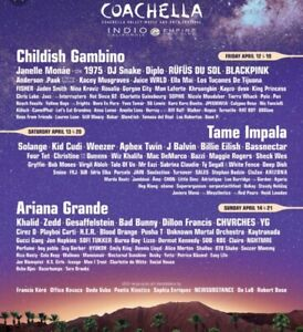 Coachella 2 tickets and a campsite Weekend 1