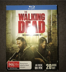 Walking dead season 1-5 box set- blu ray Baldivis Rockingham Area Preview