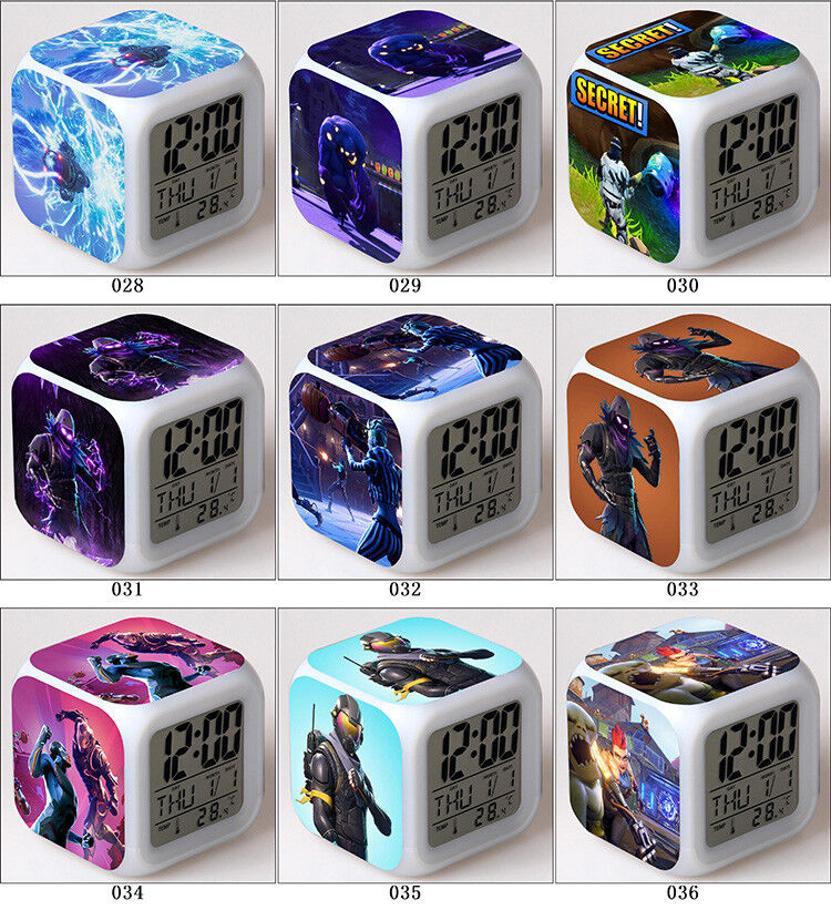 Fortnite Game TPS Color Changer LED Night light Digital Alarm Clock Gift D