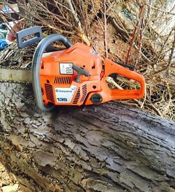 Husqvarna Chainsaw Hardly used With bar and chain