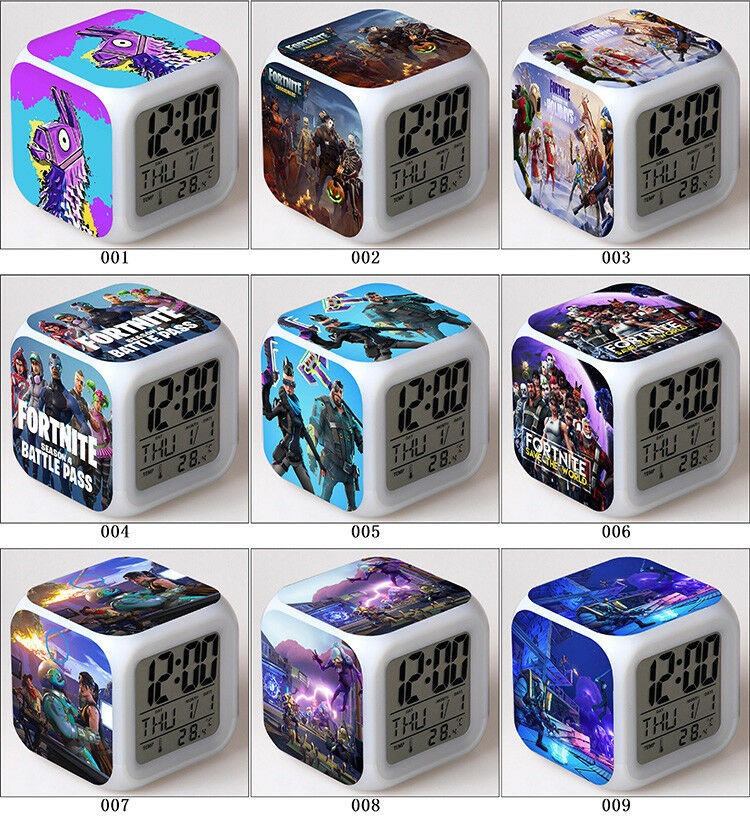Fortnite Game TPS Color Changer LED Night light Digital Alarm Clock Gift A