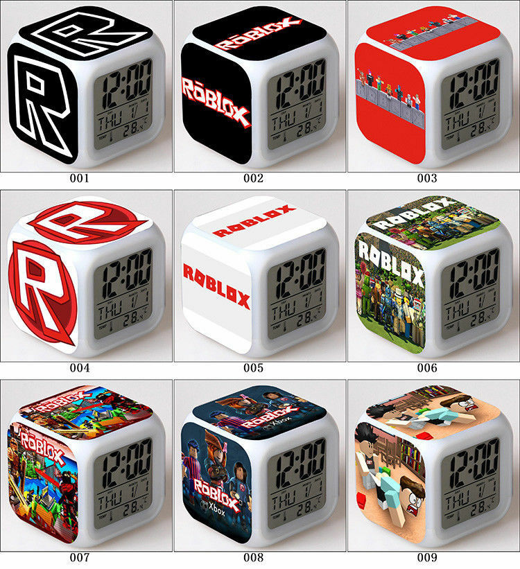 Roblox Games LED Digital Alarm Clock Night light Christmas Halloween Gift Hot
