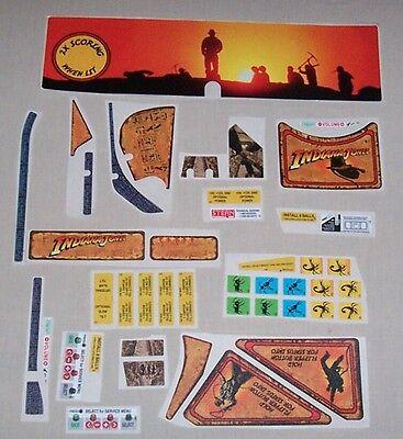 Stern Indiana Jones Pinball Machine Playfield Decal Set 802-5000-A4 FreeShip New
