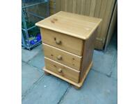 £15 pine bedside cabinet table farmhouse shabby chic project