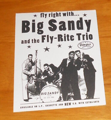 Big Sandy and the Fly-Rite Trio Postcard Original Promo (Big Sandy And The Fly Rite Trio)