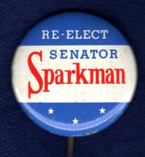 JOHN SPARKMAN ALABAMA SENATE 1966 ADLAI VP RUNNING MATE POLITICAL PINBACK BUTTON