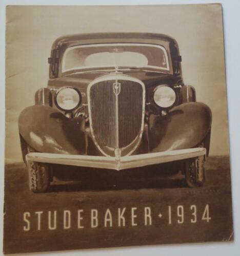 "Orignl 1934 Studebaker Sales Brochure,design ""From Speedway and Skyway"",24 p.,VG"