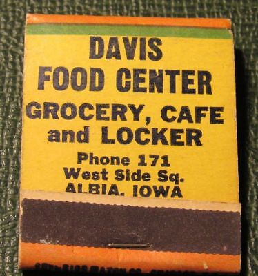 Matchbook   Davis Food Center Grocery Albia Ia Low Phone   Full