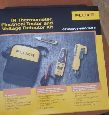 Fluke 62 Maxtpro1ac Ir Thermometer Tpro Voltage Continuity Tester And Volt