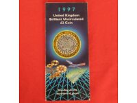 1997 Shoulders of Giants Technology £2 coin BUNC - on Royal Mint SEALED CARD folder. FREE post to UK