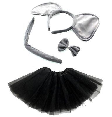 Elefant  KOSTÜM Set  Mädchen Damen Verkleiden Fasching Karneval Dress Up 4 teile