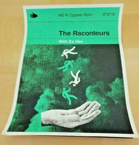 The Raconteurs Indianapolis Egyptian Room Poster RARE! NUMBERED! FREE SHIPPING!