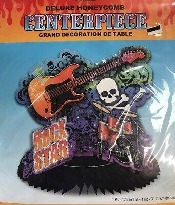 Rock Star Guitar Party Supplies Deluxe Centerpiece 12.5