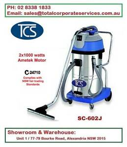 60L Wet & Dry Vacuum Cleaner 2x1000W Ametek Motors Steel tank Alexandria Inner Sydney Preview