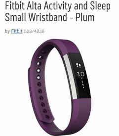Fitbit Alta Activity and Sleep Small Wristband - Plum