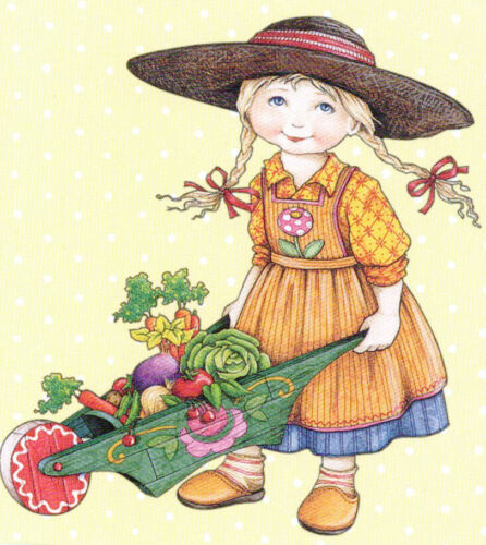 Gardening With Grandpa Fall -Handcrafted Fridge Magnet-w/Mary Engelbreit art
