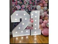 LED Light Up 21 Sign