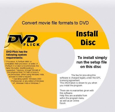 DVD RECORDING SOFTWARE CONVERTS MOVIE DIVX &