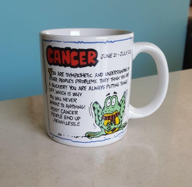 Cancer Frog Mug 1980