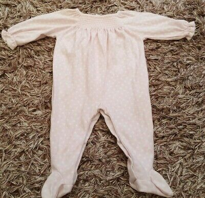 Baby Girl kissy kissy Baby Pink White Spot Baby Grow 0-3 Months
