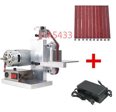 Diy Micro Belt Machine Electric Mini Polishing Sanding Machine Bench Sander 1set