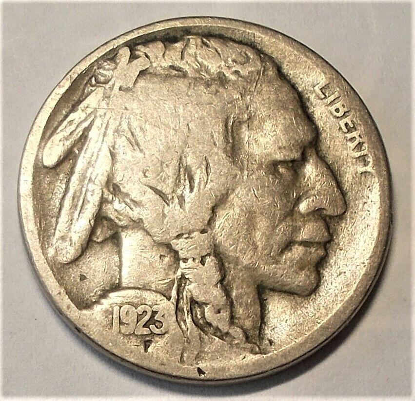 1923-S Fine Buffalo Nickel (6,142,000 Minted)