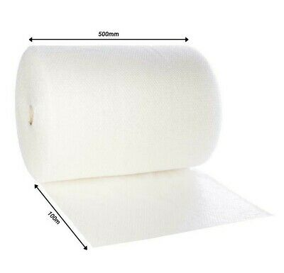 500mm X 100m Large Roll Bubble Wrap Cushioning Packaging Material 100 Meters UK