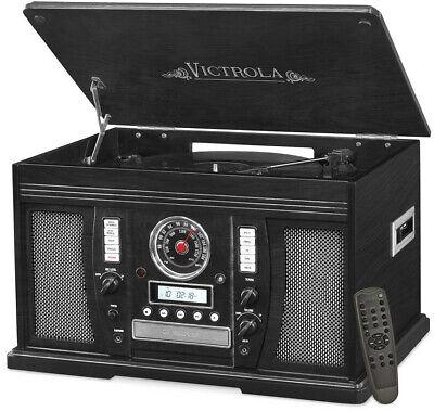 Victrola Nostalgic Aviator Wood 7-in-1 Bluetooth Turntable E