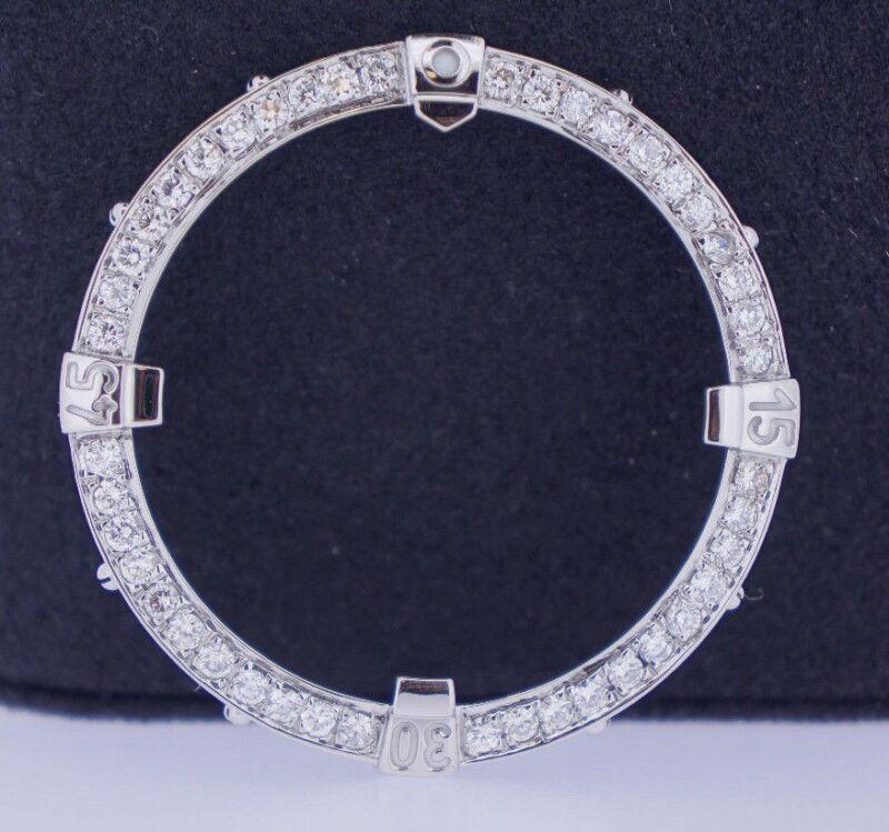 2.50 Carat Round White Diamond Bezel For Breitling Super Avenger Watch ASAAR