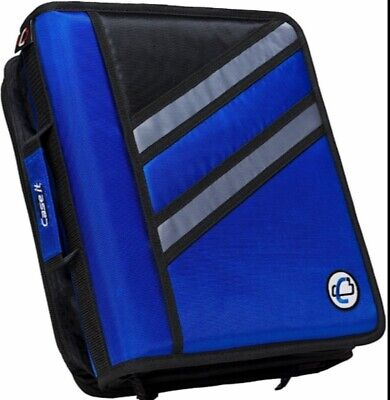 Case-it Z-design Zippered Binder With Tab Filed-ring Z-176 Oxford Blue
