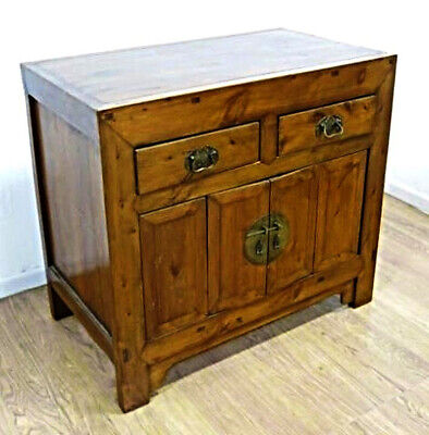 Large Elmwood Chinese 2 Door Cabinet Dresser Server Sideboard Buffet Asian ()