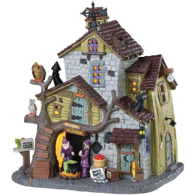 Lemax Spooky Town 2018 WITCH & WARLOCK RESIDENCE #85308 NRFB Lighted Village *