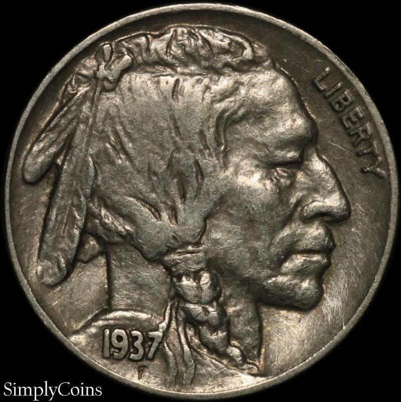 1937 Indian Head Buffalo Nickel ~ XF Extremely Fine ~ US Coin