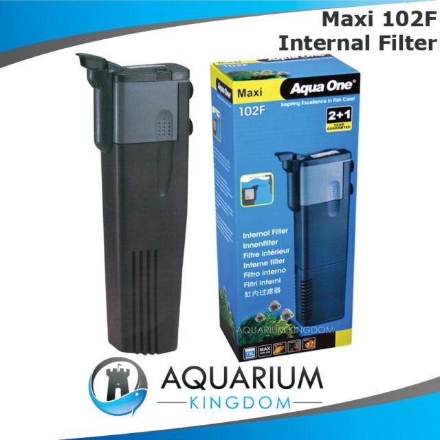Aqua One Maxi 102F Internal Power Filter Clean Aquarium Fish Tank 450L/H