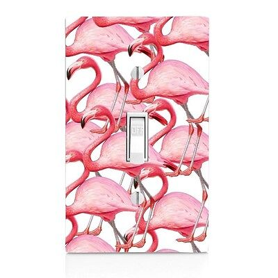Flamingo Switchplate - Flamingo Pattern Light Switch Plate-Wall Plate-Kitchen Decor-Bedroom Decor-Bath