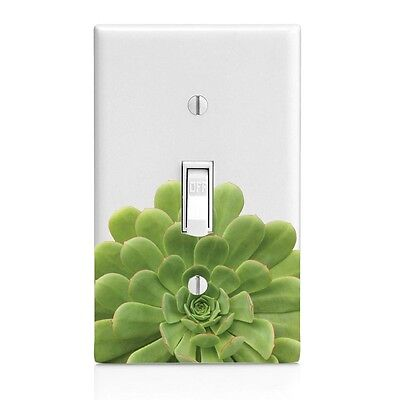 Lower Succulent Wall Plate Rocker Toggle Outlet Decor Switch Plate - Lower Rocker Cover