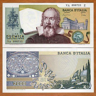 Italy, 2000 Lire, L. 1973 (24-10-1983), P-103 (103c), UNC > Gallileo