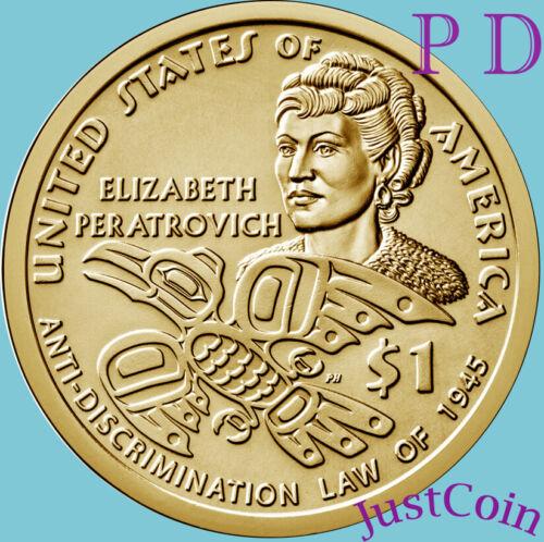 2020 P&D NATIVE AMERICAN TWO DOLLARS SET ELIZABETH PERATROVICH
