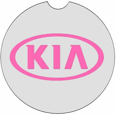KIA Absorbent Car Coaster With Choice Color 1 Pair - Car Coaster