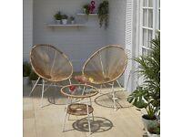 3 piece set egg chair garden furniture set