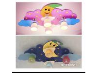 Creative Kids Room Ceiling Lamp Bedroom Cloud Moon Lighting NO OFFER PLEASE