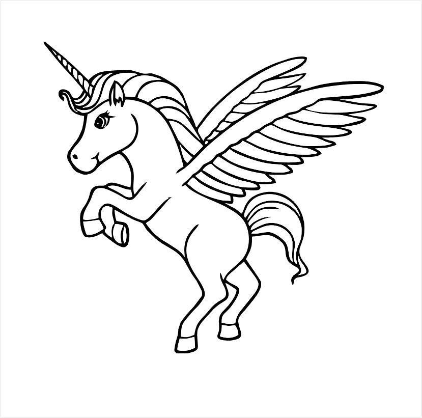 ppstamps gummistempel k1993  einhörn pferd flügel tier