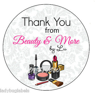 Customized Business Thank You Sticker Labels - Makeup Beauty Design 25