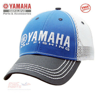 YAMAHA PRO Fishing Mesh Hat Blue Mesh Boat Outboard Adjustable CRP-16HPF-BK-NS for sale  Shipping to Canada